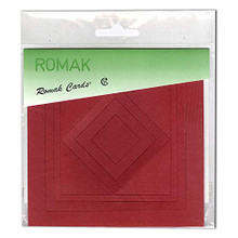 Romak Square Frame Cards- Red
