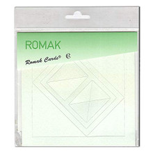 Romak 4 Rectangle Frame Cards- Pastel Green