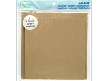 'Paper Accents Card & Envelopes 6'x 6' Kraft 5pc