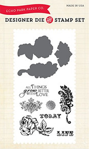 Echo Park Paper Company Things Grow Better with Love Stamp