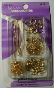 Sulyn 1 Pack with 60 Pieces Gold Finish Finding Kit [Office Product]