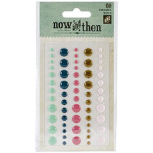 My Minds Eye Now and Then Mildred Adhesive Enamel Dots, with You