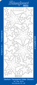 Starform Stitched Stars Transparent Gold 3214 Peel Style Stickers