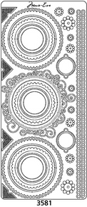 Peel Off Corner 3581 Silver Harmonie Embroidery Outline Sticker