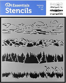PA Essentials Stencils - Horizons 6x6 1pc