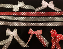 "3 Colors Sheer Polka Dot Ribbon 5/8"" 2 YD"