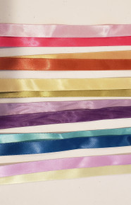 "6 Colors Reversible Satin Ribbon 5/8"" 1 YD/each color"