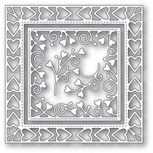 Memory Box Heart Border Frame Cutting Die 94118