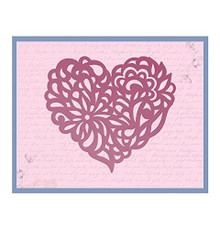 Ultimate Crafts Magnolia Heart Impression Die, Metal, Black