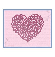 Ultimate Crafts Magnolia Heart Impression Die, Metal, Black