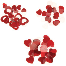 Darice Heart Confetti - Assorted Shapes - Red/Clear - 24 grams