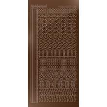 Find It Trading Hobbydots sticker - Mirror - Brown STDM18G