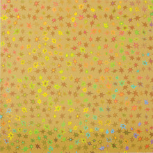 Stars Holographic Gold 2 sheets 12x12 Cardstock STUNNING!
