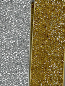 "2-pc Metallic Velvet Ribbon 1.5"" Wide"