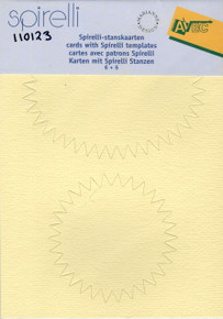 Spirelli Die-Cut Cards With Spirelli Oval Templates - Cream/Light Yellow