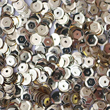 Accent Design 5mm Silver Cupped Sequins 800 PCS