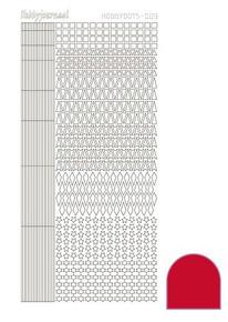 Find It Trading Hobbydots sticker  - Red STYLE 9 STDA094