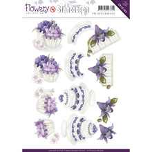 Precious Marieke Punch-out Flowery Sheet Embellishments SB10103