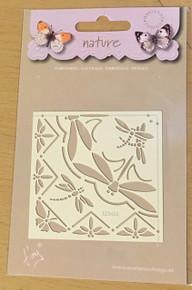 Marianne Design Embossing Stencil - Nature Dragonflies EE3430
