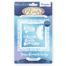 Hunkydory Moonstone Dies- in Full Bloom- Blooming Lovely Sentiments & Frame MSTONE057