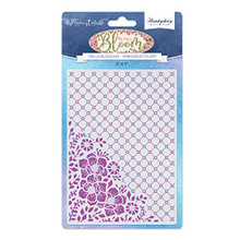 Hunkydory Moonstone Embossing Folder- in Full Bloom- Trellis Blossoms MSTONE704