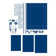 Tattered Lace Vista, Silver, Window: 18.3 x 14.3 cm/Congratulations: 17.5 x 0.7 cm/Flowers: 2.4 x 4 cm