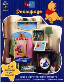 HOTP Book - Pooh Decoupage