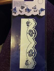 Marianne Design Embossing Stencil Flower Border