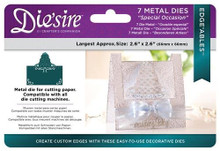 Crafter's Companion Die'sire Edge'ables Metal Dies 7/Pkg-Special Occasion