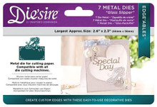 Crafter's Companion Die'sire Edge'ables Metal Dies 7/Pkg-Glass Slipper