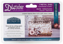 Crafter's Companion Die'Sire DS-EDG-CCROWN Thin Metal Die Silver