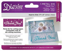 Crafter's Companion Create-a-Card DS-CAD Thank You Die'sire Dies: Metal, 2 x 5, Multicolor