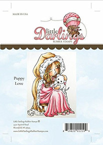 Little Darlings Unmounted Rubber Stamp-Puppy Love