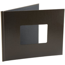 Provo Craft YourStory 8.5x11 Album Cover w/Photo Window: Chocolate, Leather Texture