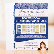 Tattered Lace Box Window Paper Pack -- Preprinted Papers Match Box WIndow Dies Sold Separately