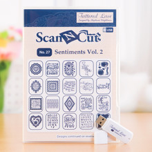 Tattered Lace USB - Sentiments Vol. 2 for Brother Scan & Cut
