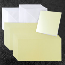 Core Collection6x6 Cards & Envelopes Ivory Pearl 30-pk