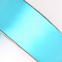 25 yd 3/4 in Satin Ribbon- Aqua