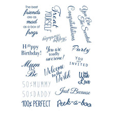 Tattered Lace Secret Surprise A6 Clear Stamp Set