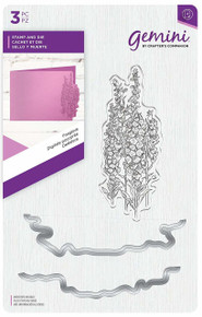 Crafters Companion Gemini - Stamp and Die Set- Foxglove