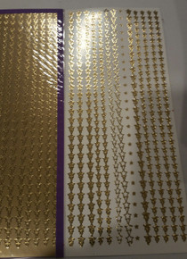 Sticker King  Gold Foil Star Chain Border Accents Outline Peel Sticker