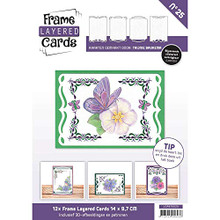 Find It Trading Frame Layered Cards No25 with Embroidery Patterns & 3D Sheet