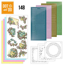Find It Trading Dot and Do Spring Birdhouses DODO148 Hobbydots Card Set