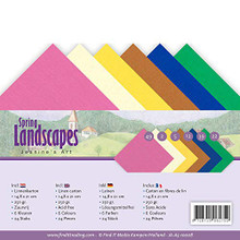 Find It Trading Yvonne Creations Jeanine's Art Linen Paper Set Spring Landscapes Cardstock A5 Sheets JA-A5-10008