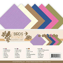 Find It Trading Yvonne Creations Jeanine's Art Linen Paper Set Birds & Flowers Cardstock A5 Sheets JA-A5-10007