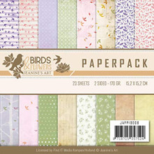 Find It Trading Jeanine's Art Paper Pack 6'X6' 23/Pkg-Birds & Flowers, Double-Sided Designs  JPP10008