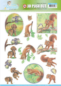 Find It Trading Jeanine's Art Young Animals Punchout Sheet-in The Forest