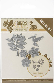 Find It Trading Jeanine's Art Birds & Flowers Die-Bird Foliage JAD10063