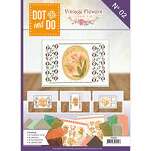 Find It Trading Dot and Do Vintage Flowers Card kit Book 2 DODOA6002