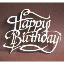 Filigranki Laser Cut Decorative Chipboards for Handicraft- Happy Birthday